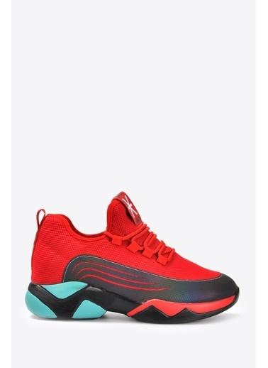 Vizon Ayakkabı Sneakers Kırmızı